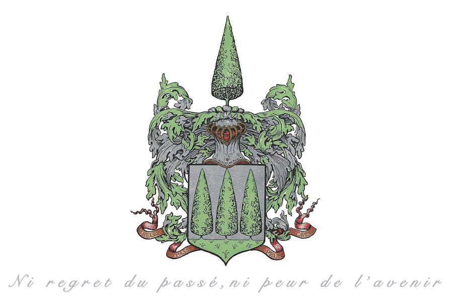 family crest Boissevain text